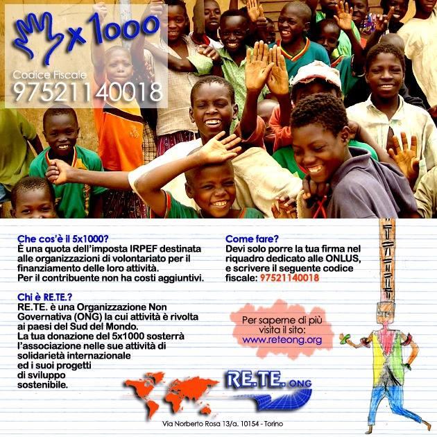 5X1000 per RETE ONG