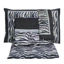 Completo matrimoniale in flanella zebrato