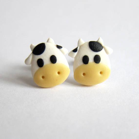 cow earrings cow gifts animal earrings animal jewelry