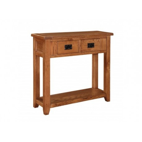Dorset 2 Drawer Console Table Drop Down Handles Rounded