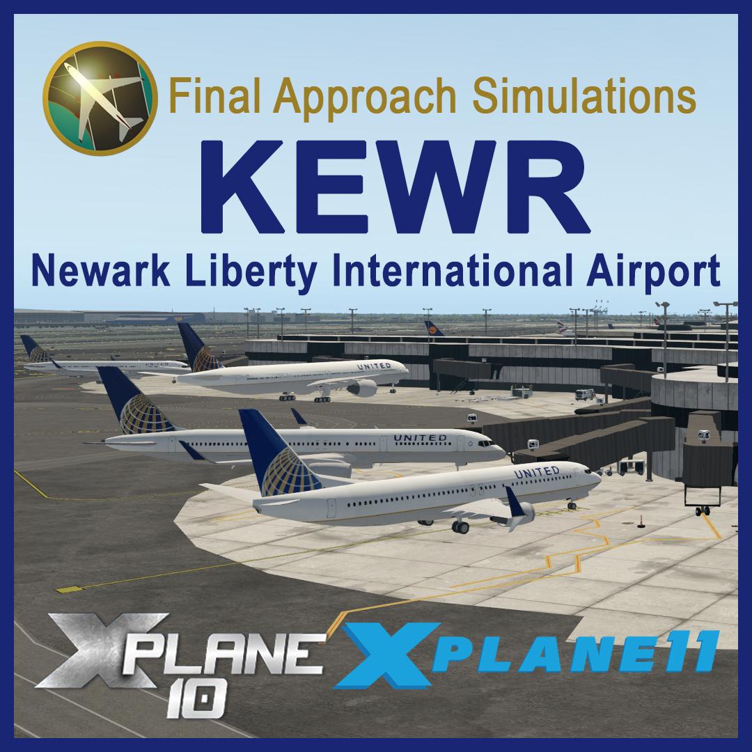 KEWR Newark Liberty International Airport for X-Plane 10 & X-Plane 11  (Download)