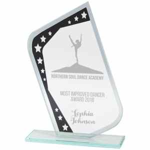 Meteor Mirror Glass Award Black & Silver