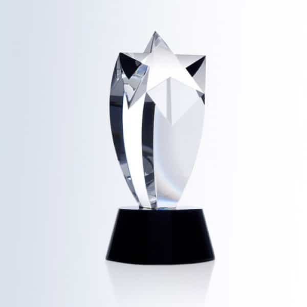 Rising Star Award (Black Crystal Round Base)