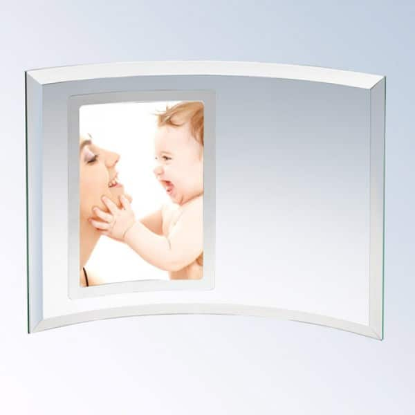 Curved Glass vertical Photo Frame-Silver