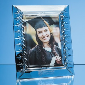 "25cm Lead Crystal Panelled Photo Frame for 5 x 7 Photo""""5cm Le"""