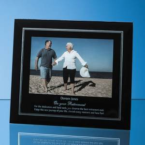 """Black Surround with Silver Inlay Glass Frame for 6 x 4 Landscape Photo""""""""lack Surround with Si""""""""""""lack Surround with Silver Inlay Glass Fr"""""""