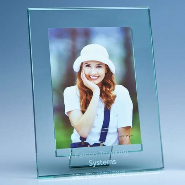 "Jade Glass Photo Frame for 5 x 7 Photo""""ade Gl"""