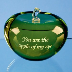 7.5cm Optical Crystal Green Apple