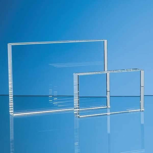 7.5cm x 12.5cm Optical Crystal Rectangle Award, H or V