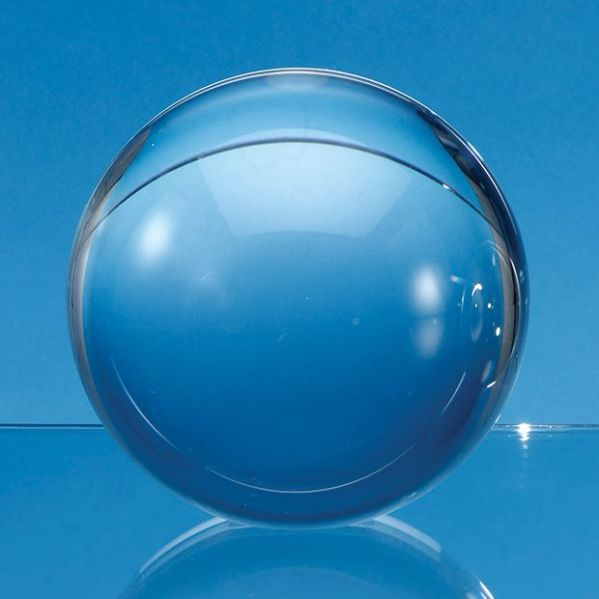 Optical Crystal Sphere with a Flat Base