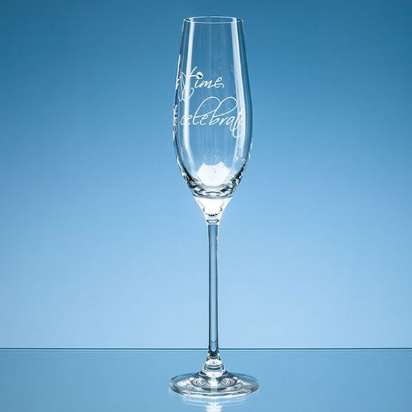210ml 'It's time to celebrate' Diamante Champagne Flute
