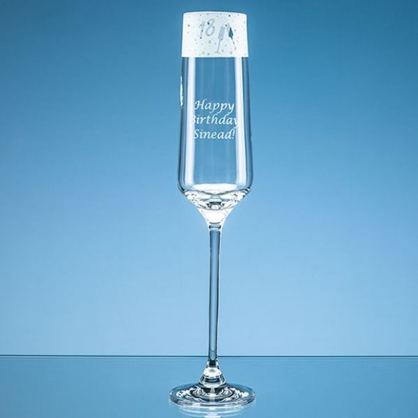 190ml '18' Frieze Design Champagne Flute