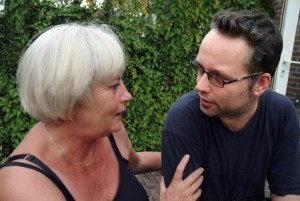 mother and son talking about end of life issues