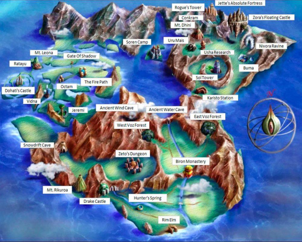 Mapa Completo mundo de Legend of Legaia