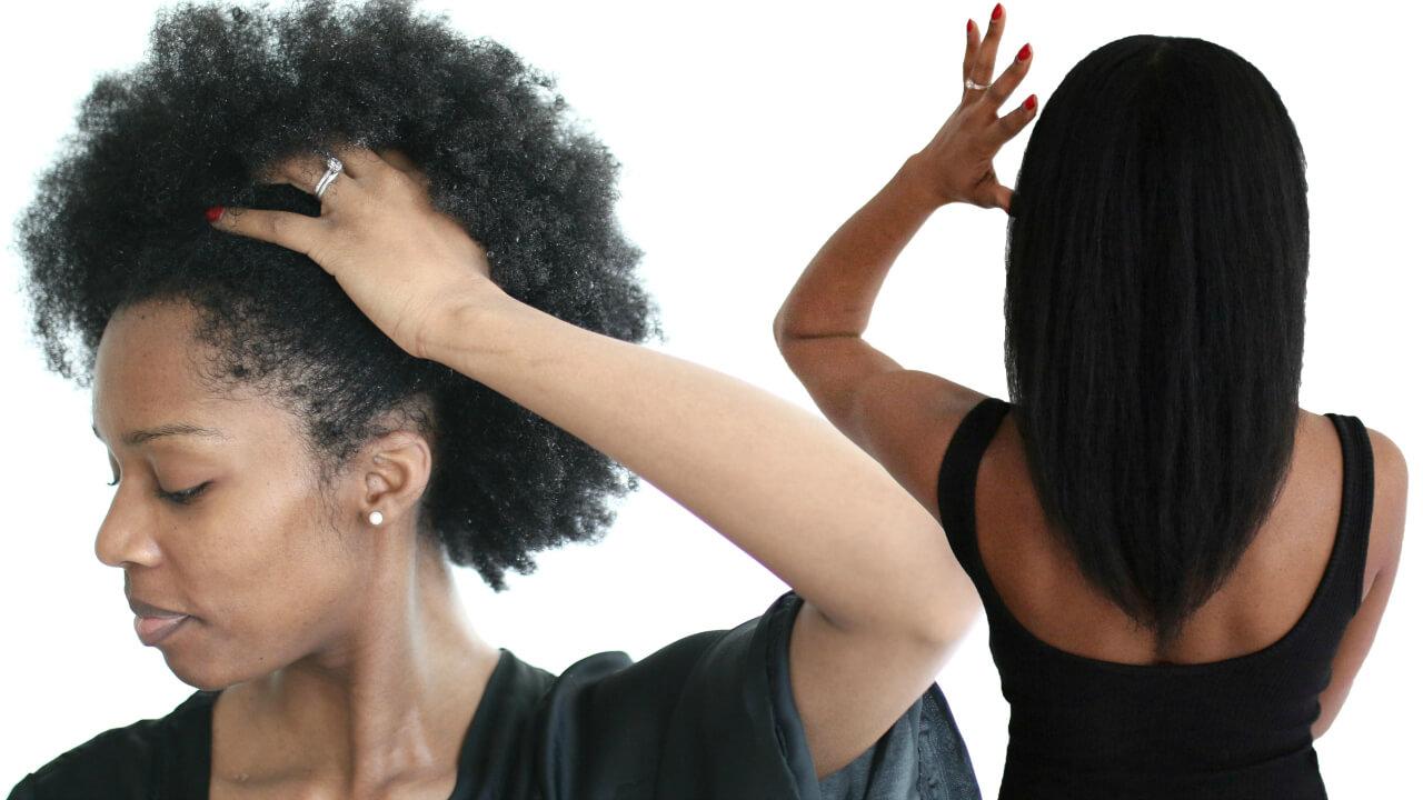 My Natural Hair Straightening Routine Wash Day Start To Finish
