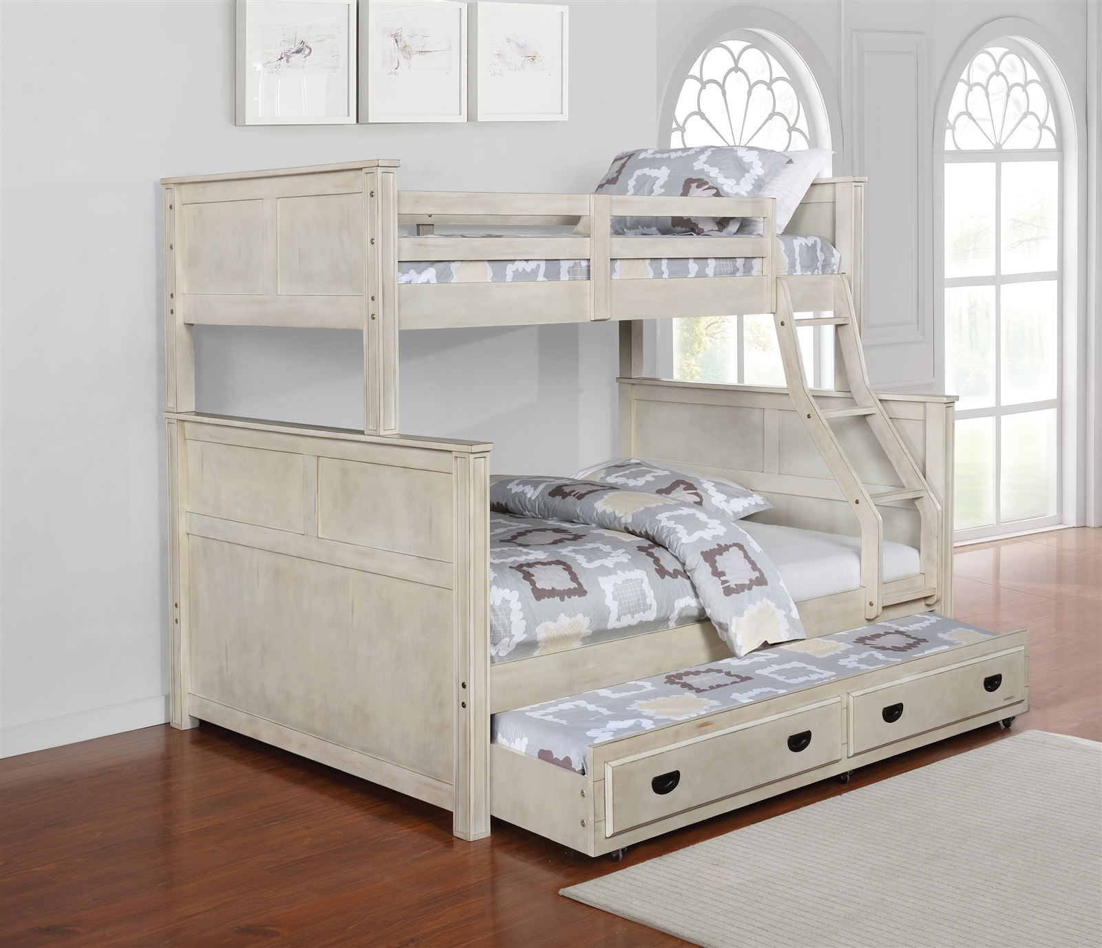 Montrose Twin Over Full Bunk Bed In Antique White Coaster 461252