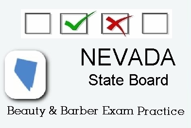 NEVADA Cosmetology Barber Esthetics State Board Test Practice.