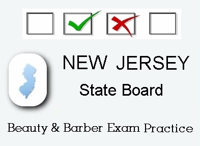 NEW JERSEY Cosmetology Barber Esthetics State Board Test