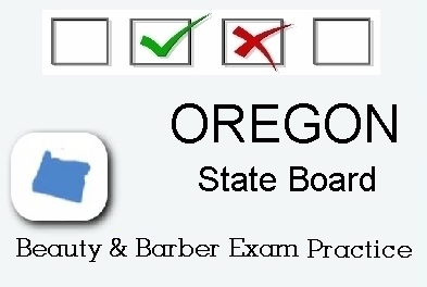 OREGON Cosmetology Barber Esthetics State Board Test Practice.