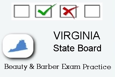 VIRGINIA Cosmetology Barber Esthetics State Board Test