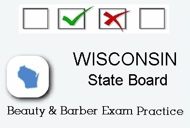 WISCONSIN Cosmetology Barber Esthetics State Board Test