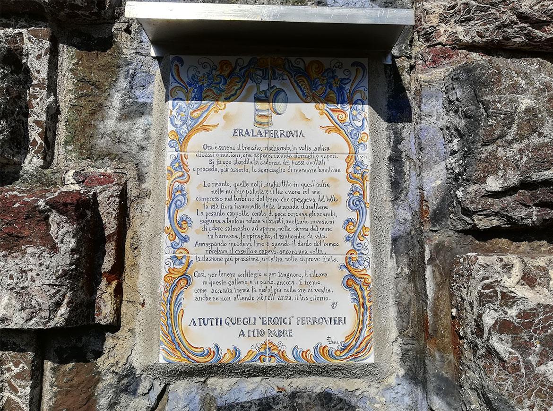 vecchia ferroviera costiera Liguria