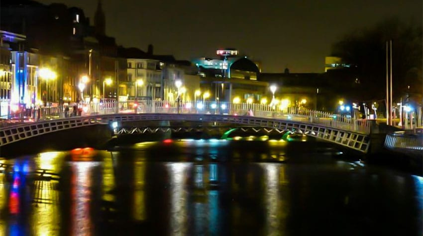 Ha'Penny Bridge Dublino