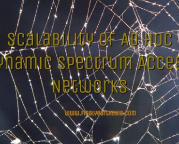Scalability of Ad Hoc Dynamic Spectrum Access Networks 1