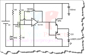 Circuit diagram for Transmitter voice