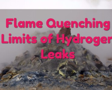 Flame Quenching Limits of Hydrogen Leaks