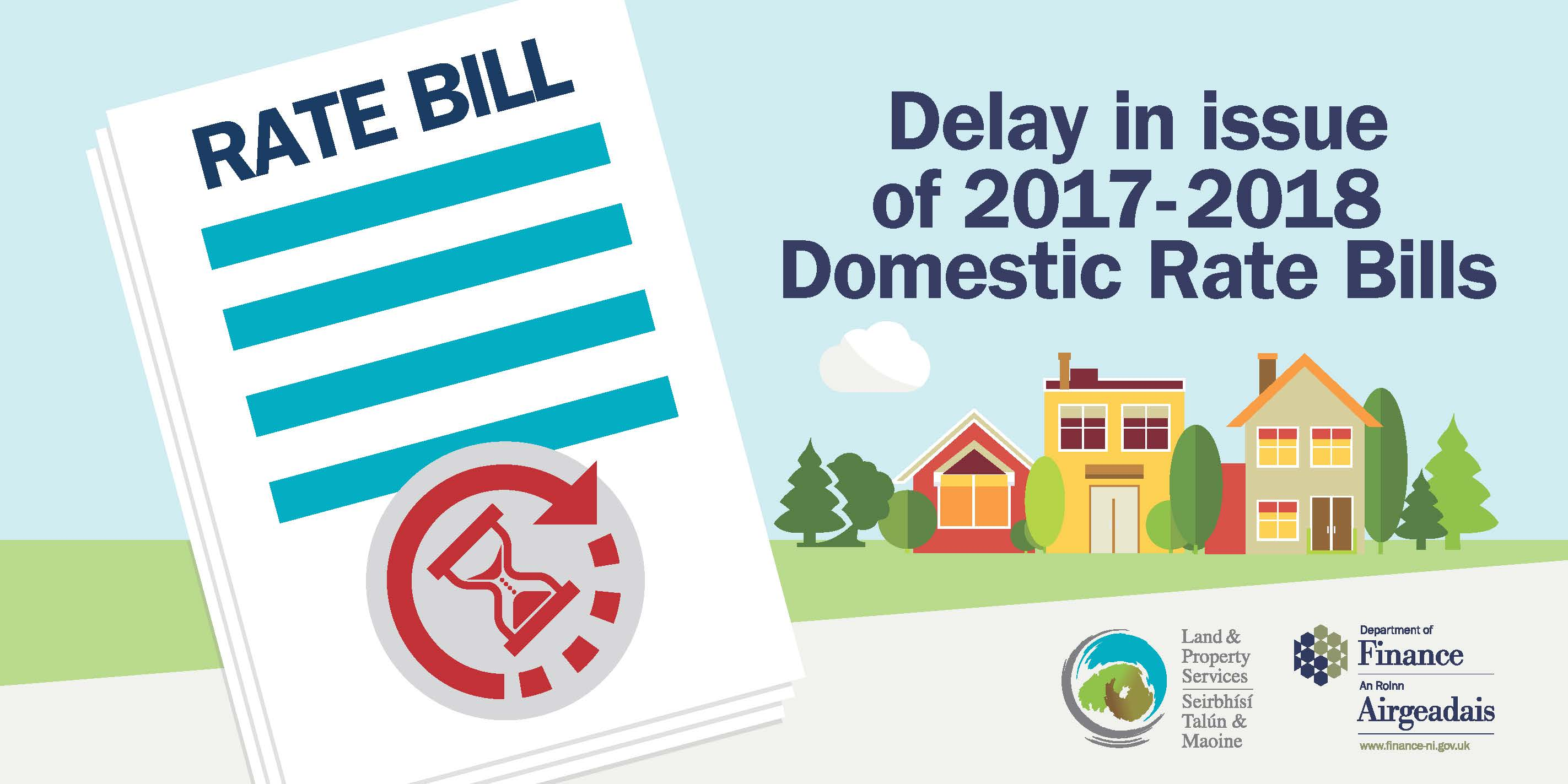 Delay in issue of Rate Bills for 20172018  Department of