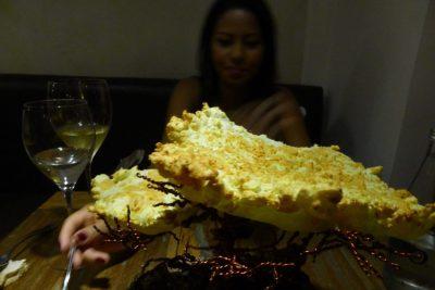 El Cielo's creative presentation of yucca bread