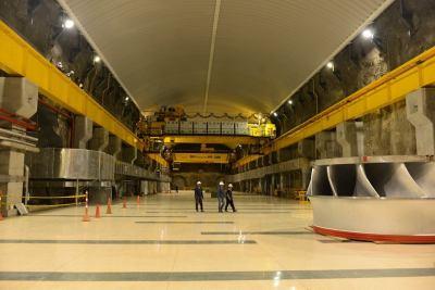Inside Isagen's Sogamoso Hydroelectric Facility -(photo courtesy Isagen)