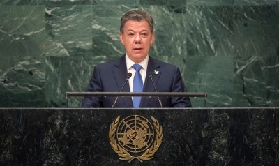colombia president juan manuel santos united nations barack obama new york general assembly