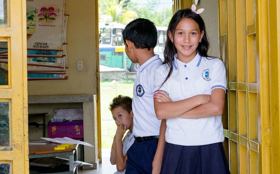 Isabella, the 11-year-old class president of Sede Barragán. Here, as in all Escuela Nueva schools, student government is seen as critical to teaching leadership and autonomy for the young students. (Credit: Jared Wade)