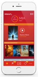 Avianca's new entertainment app. (Credit: Avianca)