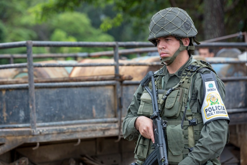 A soldier mans his security post in Cúcuta. (Credit: National Police of Colombia)