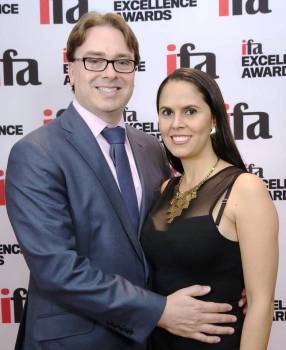 Visis principal John O'Brien with his Colombian wife Kelly at the Financial Advisor Excellence Awards