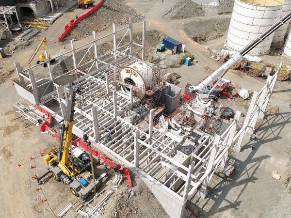 Continental Gold Buriticá grinding area construction underway