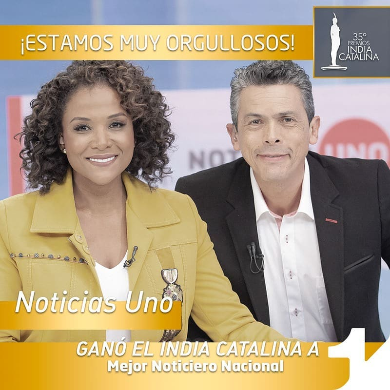 """Noticias Uno won the India Catalina Prize for """"Best Newscast in the Country"""" 10 times, including 7 years straight from 2010 to 2016, and also this year, 2019"""
