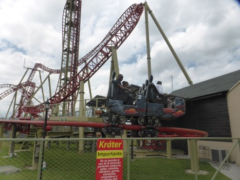 One of several roller coasters at Parque del Cafe in Colombia's Eje Cafetero (Photo credit: Liliana Padierna)