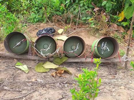 Improvised Bombs created by violent insurgents