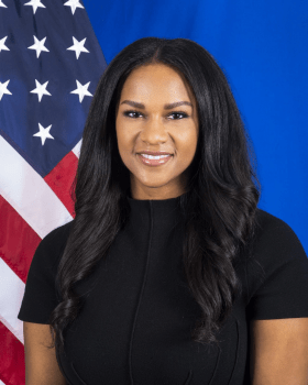 Jalina Porter is the principal deputy spokesperson for the United States Department of State.