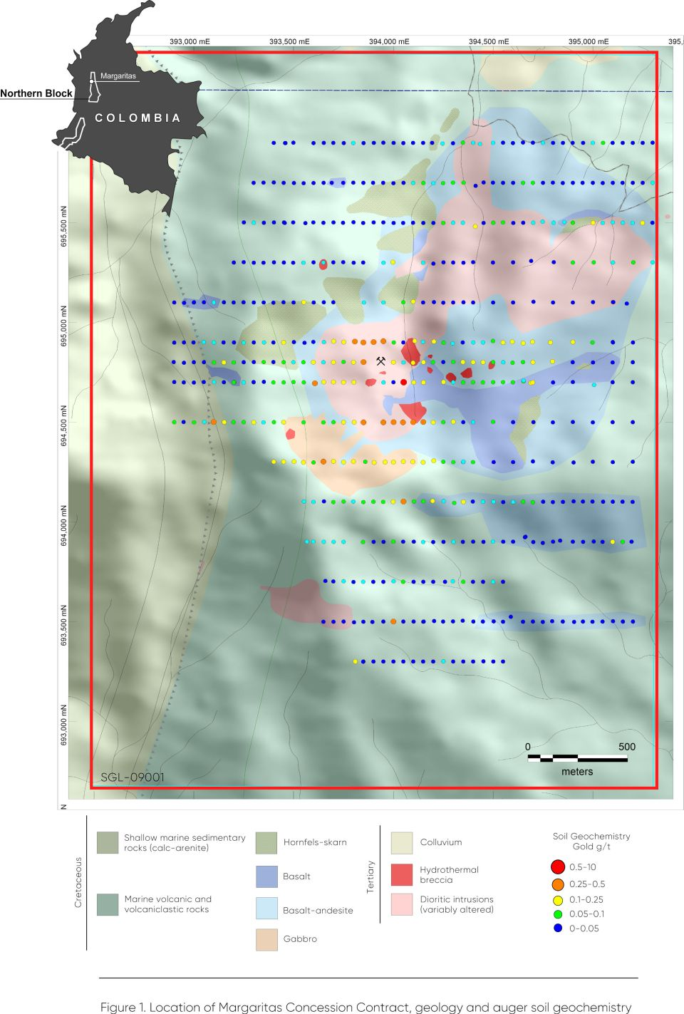Royal Road has conducted grid-based surface geochemical sampling and further geological mapping at Margaritas