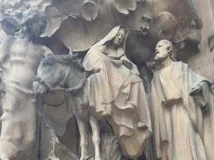 2014 12-December 27 (2035) Barcelona; Sagrada Familia Nativity Entrance