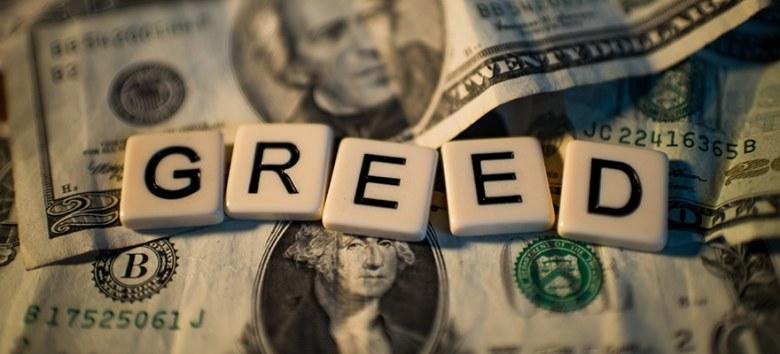 writing sins - greed