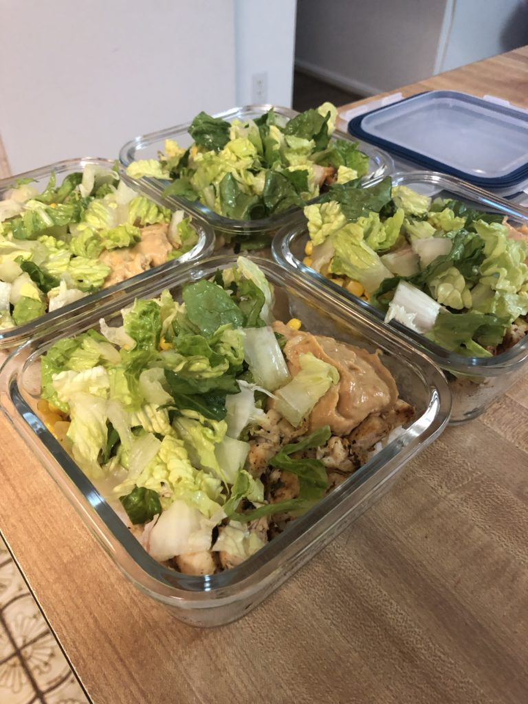 meal prep chicken rice