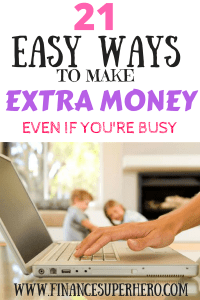 Want to make extra money? Would an extra $100-$2,000 each month change your life? These 21 side jobs are real and they work for everyone - even busy people!