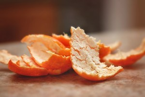 kitchen cleaning hacks and orange peels