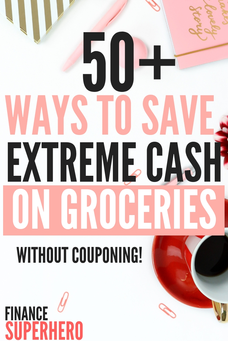 It's a common fact that the average house hold spends over $1,000 on groceries every month. We'll show you 50+ of our best tips and tricks to save money on groceries. We're confident these tips will help you cut your grocery budget in half if you implement them carefully, and they only take a few minutes per week!